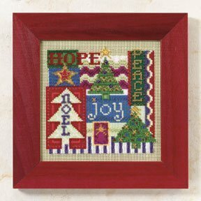 Christmas Collage - Beaded Cross Stitch Kit