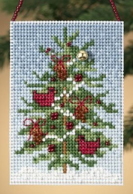 MILL HILL Buttons Beads Kit Counted Cross Stitch CARDINAL FOREST MH14-0301
