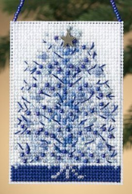 Silvery Tree - Beaded Cross Stitch Kit