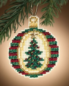 Golden Tannenbaum - Beaded Cross Stitch Kit