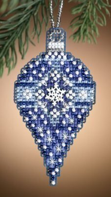 Sapphire Snow - Beaded Cross Stitch Kit