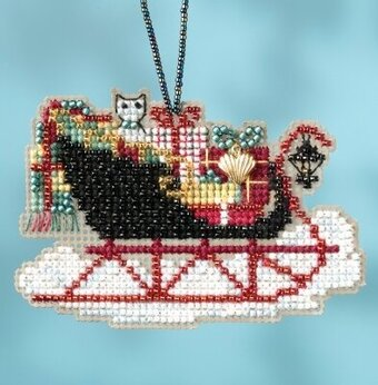 Vintage Sleigh - Beaded Cross Stitch Kit