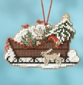 Woodland Sleigh - Beaded Cross Stitch Kit
