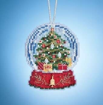 Christmas Tree Globe - Beaded Kit
