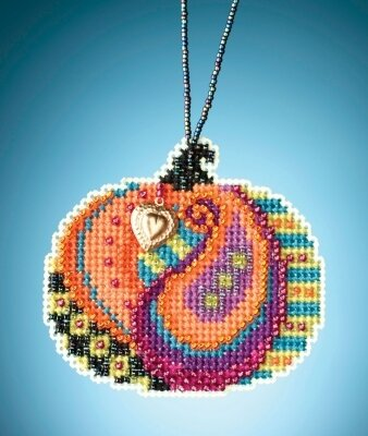 Persian Pumpkin - Beaded Cross Stitch Kit