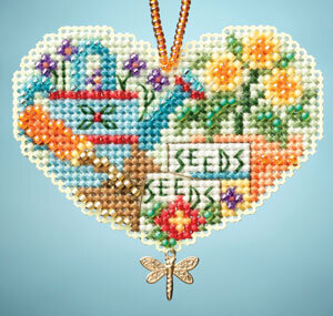 Love Gardening - Beaded Cross Stitch Kit