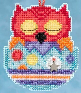Huey (Owlets) - Beaded Cross Stitch Kit