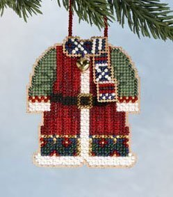 Santa's Coat - Beaded Cross Stitch Kit