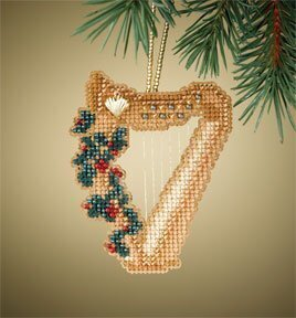 Harp - Beaded Cross Stitch Kit