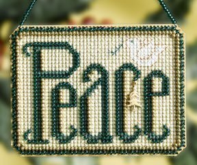 Peace Winter Greeting - Beaded Cross Stitch Kit