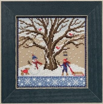 Winter Oak - Beaded Cross Stitch