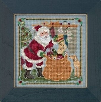 A Jolly Old Elf - Beaded Cross Stitch