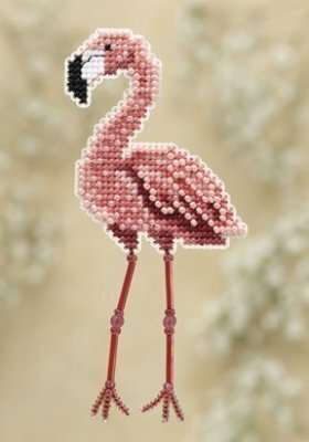 Flamingo - Beaded Cross Stitch Kit