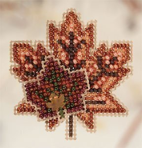 Maple Leaves - Beaded Cross Stitch Kit