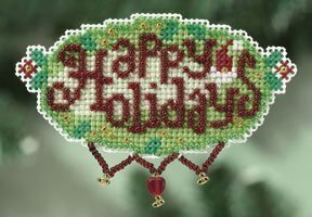 Happy Holidays - Beaded Cross Stitch Kit
