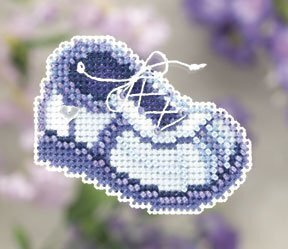 Blue Sneaker - Beaded Cross Stitch Kit