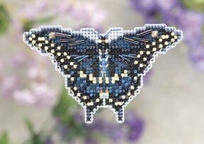 Black Swallowtail - Beaded Cross Stitch Kit