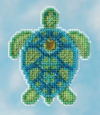 Sea Turtle - Beaded Cross Stitch Kit