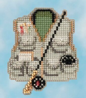 Fishing Vest - Beaded Cross Stitch Kit