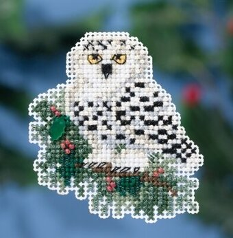 Snowy Owlet - Beaded Cross Stitch Kit