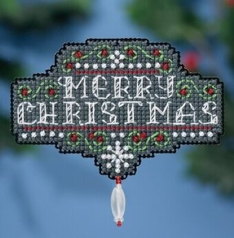 Chalkboard Christmas - Beaded Cross Stitch Kit