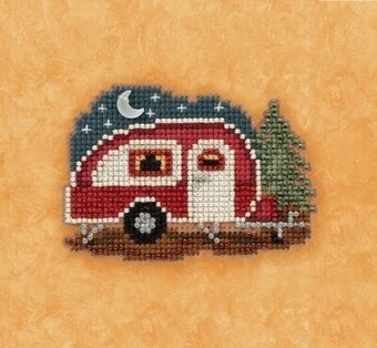 Happy Camper - Beaded Cross Stitch Kit