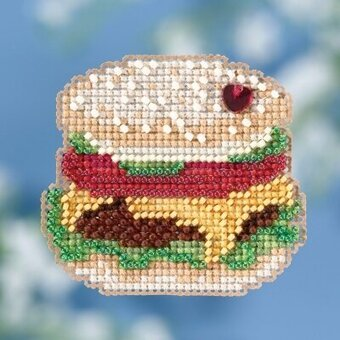 Hamburger - Beaded Cross Stitch Kit