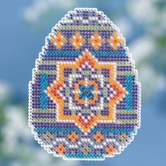 Medallion Egg - Beaded Cross Stitch Kit