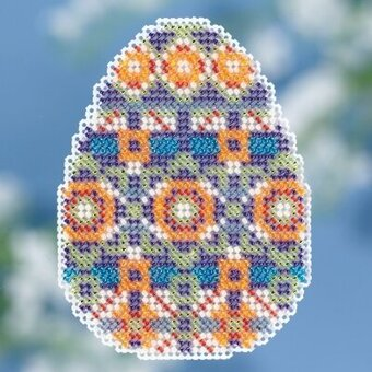 Mosaic Egg - Beaded Cross Stitch Kit