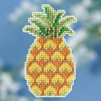 Pineapple - Beaded Cross Stitch Kit