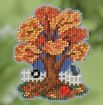Fall Tree (2018) - Beaded Cross Stitch Kit