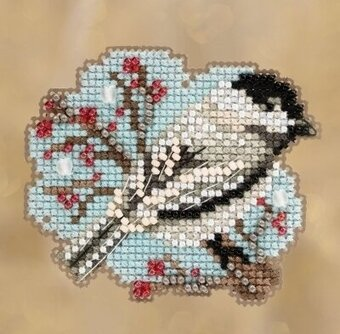 Little Chickadee - Beaded Cross Stitch Kit