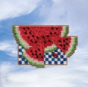Watermelon - Beaded Cross Stitch Kit