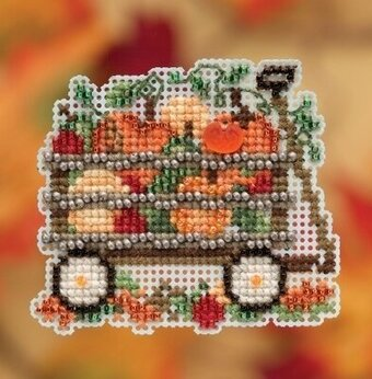 Harvest Wagon - Beaded Cross Stitch Kit