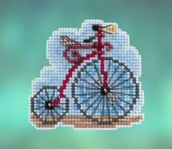 Vintage Bicycle - Beaded Cross Stitch Kit