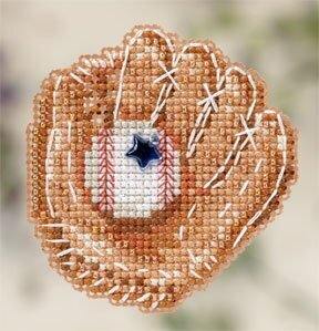Baseball Mitt - Beaded Cross Stitch Kit