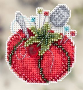 Tomato Pincushion - Beaded Cross Stitch Kit