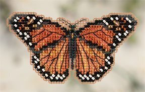 Monarch Butterfly - Beaded Cross Stitch Kit
