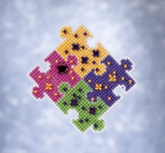 Puzzled - Beaded Cross Stitch Kit