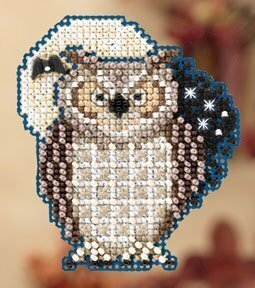 Hooty - Beaded Cross Stitch Kit