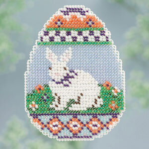 Bunny Egg  - Beaded Cross Stitch Kit