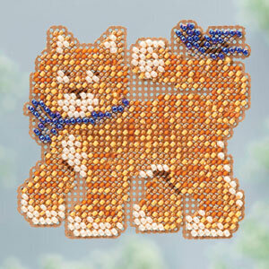 Cool Cat - Beaded Cross Stitch Kit