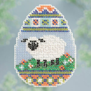 Sheep Egg  - Beaded Cross Stitch Kit