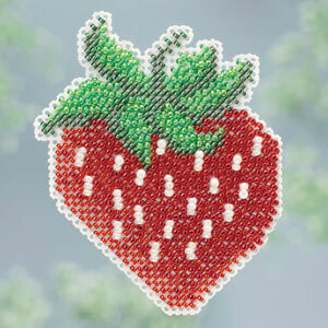 Strawberry - Beaded Cross Stitch Kit