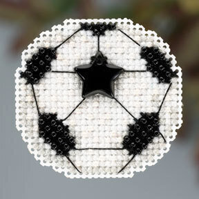 Soccer Ball - Beaded Cross Stitch Kit