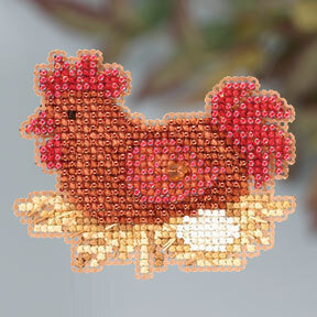 Chicken or the Egg - Beaded Cross Stitch Kit