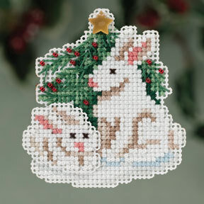 Winter Bunnies - Beaded Cross Stitch Kit