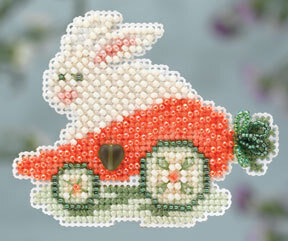 Rabbit Ride - Beaded Cross Stitch Kit