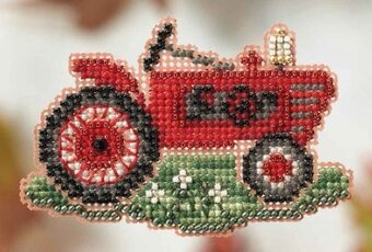 Grandpa's Tractor - Beaded Cross Stitch Kit