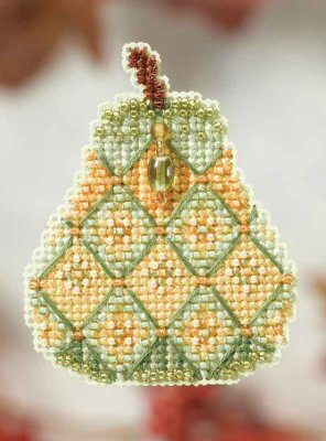 Jeweled Pear - Beaded Cross Stitch Kit